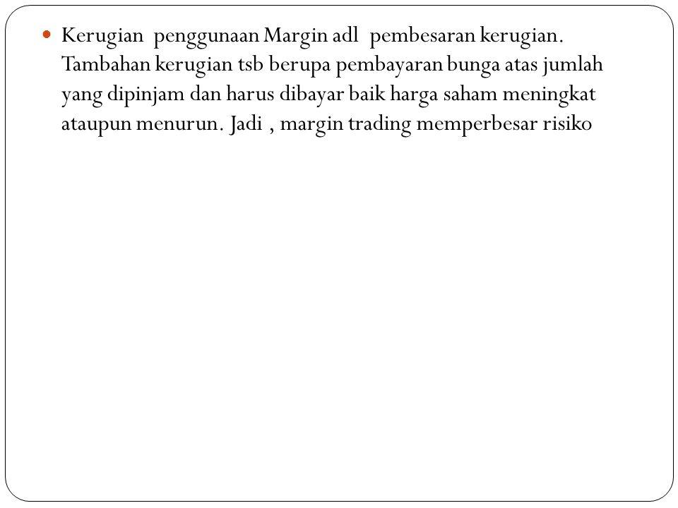  Kerugian penggunaan Margin adl pembesaran kerugian.