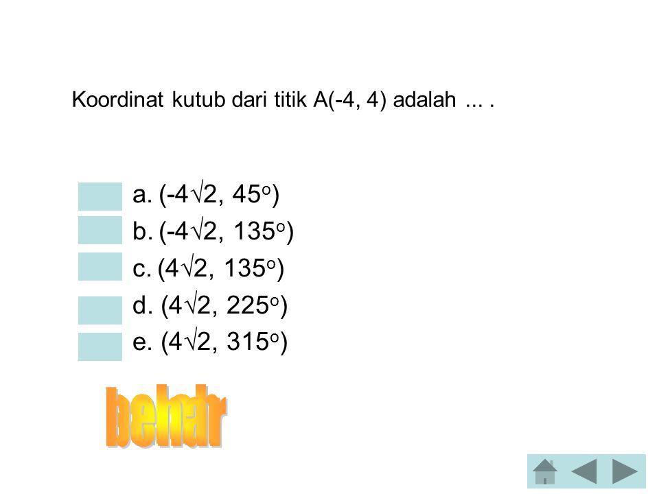 Jika tg x = 1 dan   x  3/2 . Nilai cos x adalah... •a. -1/2  3 •b. -1/2  2 •c. 1 •d. 1/2  2 •e. 1/2  3 24