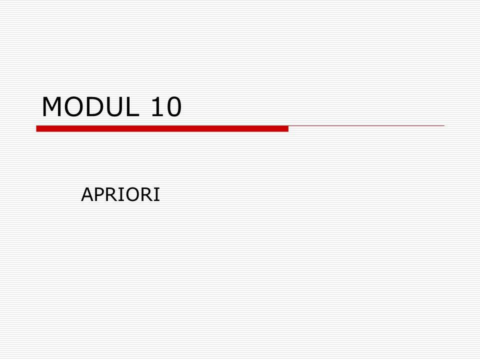 MODUL 10 APRIORI