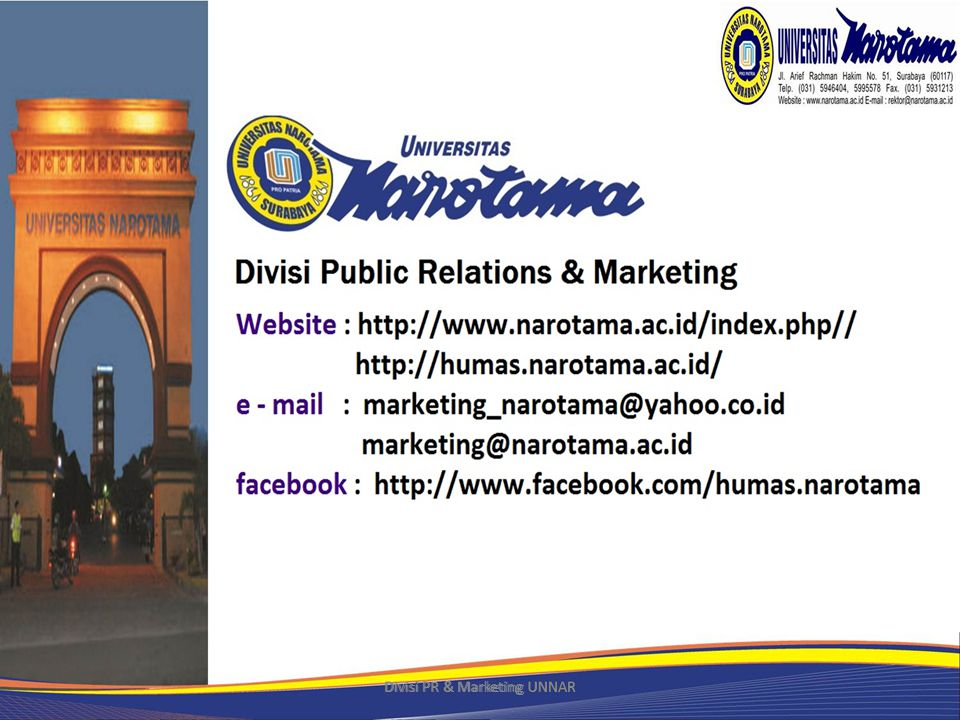 Divisi PR & Marketing UNNAR