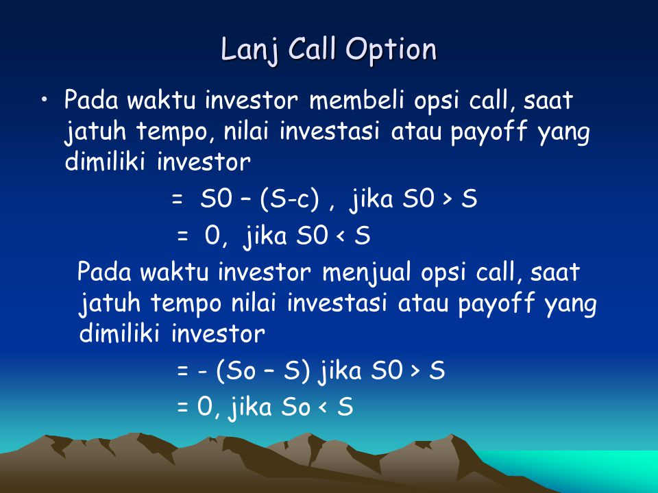 PUT OPTION B.