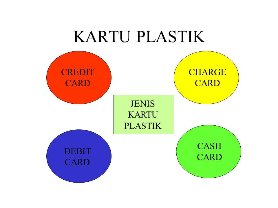 KARTU PLASTIK JENIS KARTU PLASTIK CREDIT CARD CHARGE CARD DEBIT CARD CASH CARD