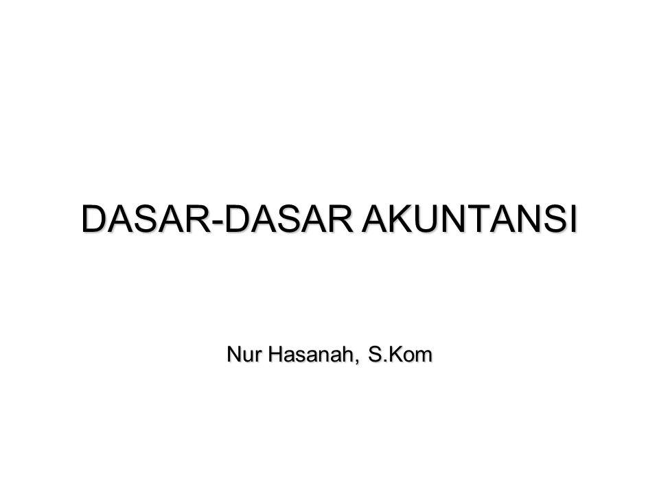 DASAR-DASAR AKUNTANSI Nur Hasanah, S.Kom