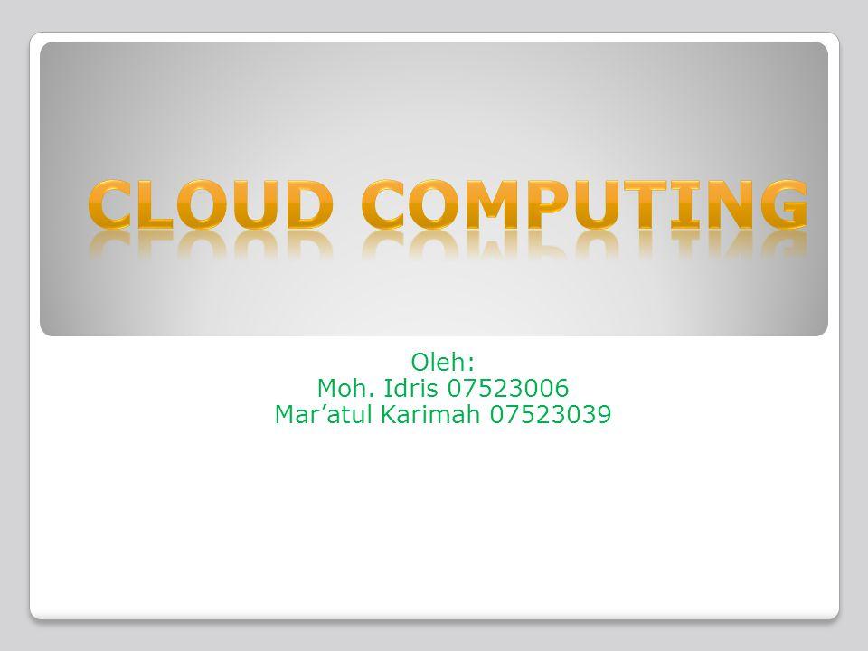  Cloud Storage melibatkan proses penyampaian penyimpanan data sebagai sebuah layanan.
