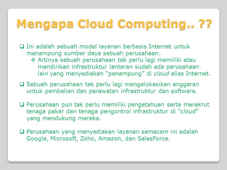 Penggunaan Teknologi Cloud Computing  VBLOCK INFRASTRUCTURE PACKAGES  Paket infrastruktur yang menggabungkan teknologi virtualisasi, jaringan, komputasi, storage, keamanan, dan pengelolaan terbaik.