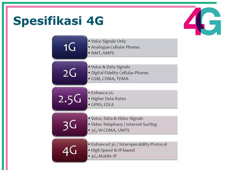 Spesifikasi 4G