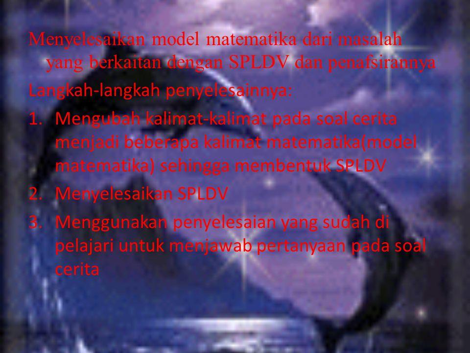 KALIAN MASIH INGAT APA ITU PERSAMAAN LINEAR DUA VARIABEL DAN SPLDV