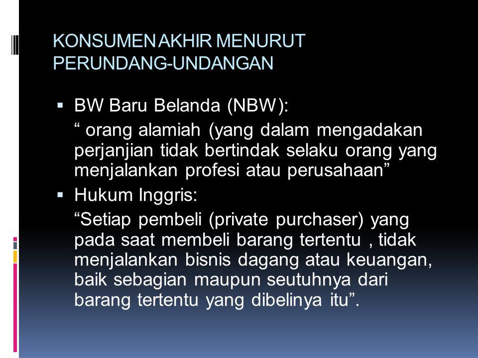 PERTANGGUNGJAWABAN PRODUK  Tanggung jawab produsen di bidang goods (barang) dan bukan jasa, karena pertanggungjawaban jasa telah khusus yaitu Proffesional liability yang bersandar pada contractual liability.