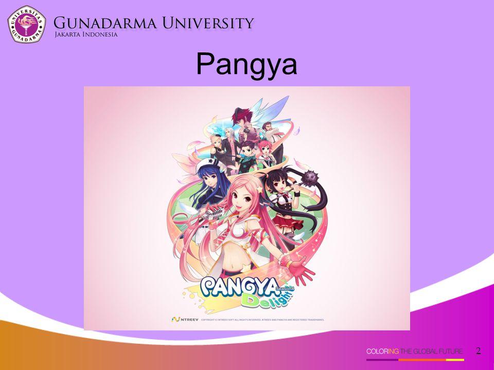 •Pangya adalah sebuah multiplayer Golf Game yang di dalamnya bisa bermain bersama pemain lain di seluruh negara di dunia.