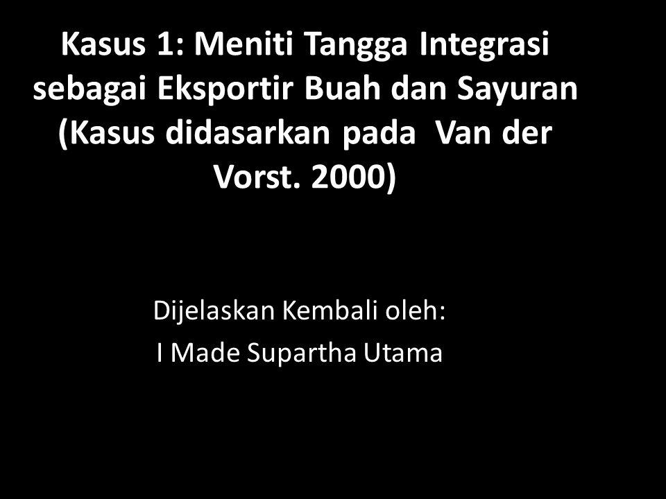 Kasus 1: Meniti Tangga Integrasi sebagai Eksportir Buah dan Sayuran (Kasus didasarkan pada Van der Vorst.
