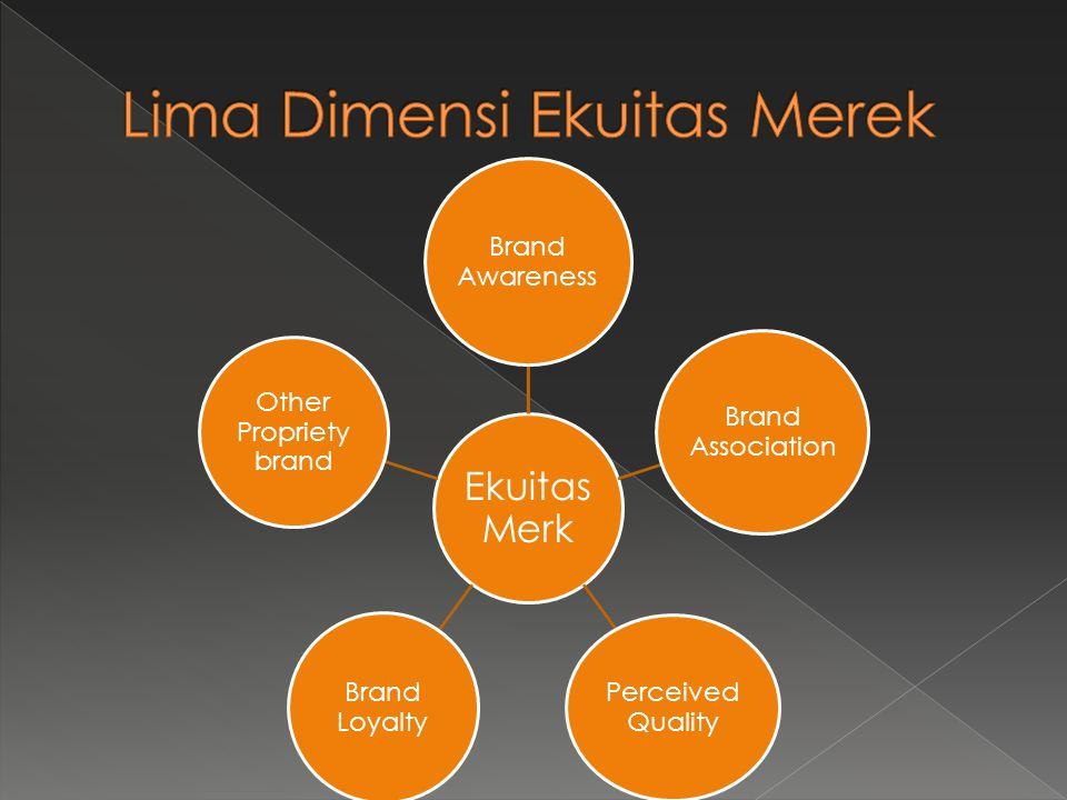 Ekuitas Merk Brand Awareness Brand Association Perceived Quality Brand Loyalty Other Propriety brand