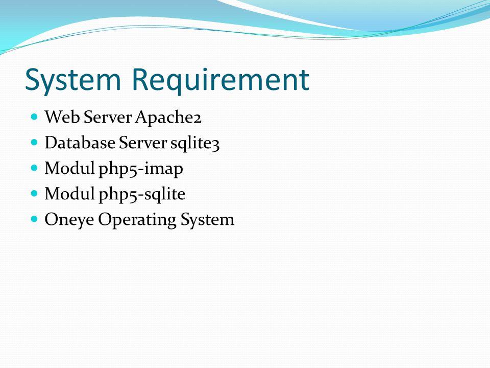 Instalasi Server di Ubuntu  Instalasi Web Server $sudo apt-get install apache2  Install MySQL Server $sudo apt-get install mysql-server  Install Sqlite 3 sudo apt-get install sqlite3 libsqlite3-dev  Install PHP 5 $sudo apt-get install php5 $sudo apt-get install libapache2-mod-auth-mysql $sudo apt-get install php5-mysql $sudo apt-get install php5-sqlite3 $sudo apt-get install php5-imap