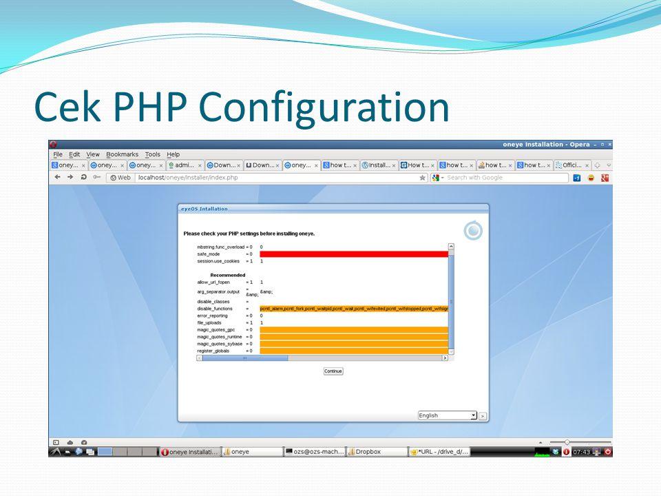 Cek PHP Configuration