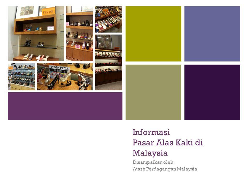 + Informasi Pasar Alas Kaki di Malaysia Disampaikan oleh: Atase Perdagangan Malaysia
