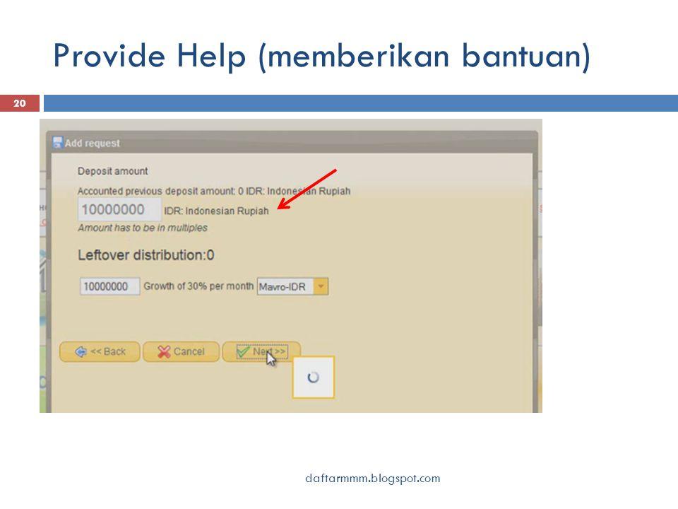Provide Help (memberikan bantuan) 20 daftarmmm.blogspot.com