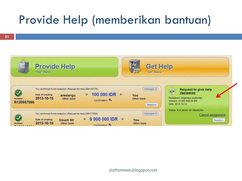 Provide Help (memberikan bantuan) 21 daftarmmm.blogspot.com