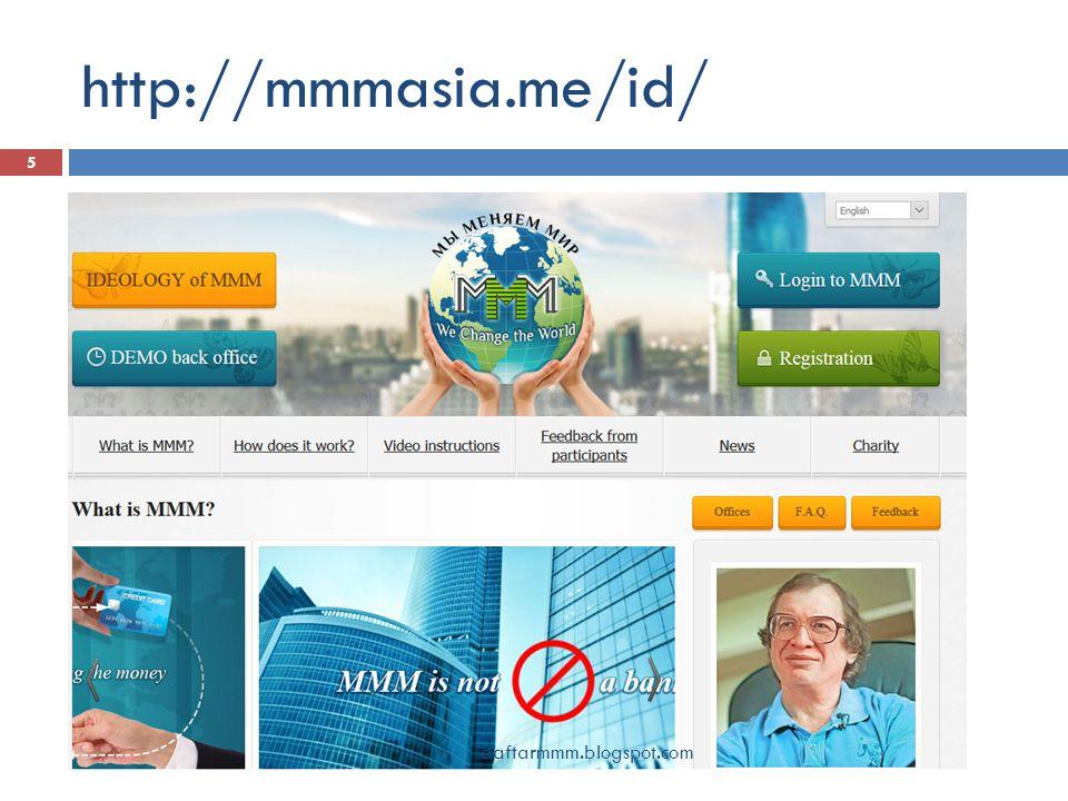 Jangan bergabung di MMM 46 Meskipun anda sudah mengikuti seluruh rekomendasi tersebut di atas, uang yang anda gunakan untuk membantu orang lain di MMM berada di tempat yang tidak aman.