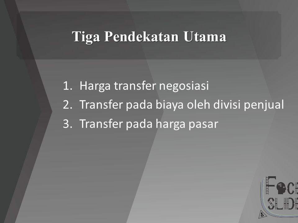 Tiga Pendekatan Utama 1.Harga transfer negosiasi 2.Transfer pada biaya oleh divisi penjual 3.Transfer pada harga pasar