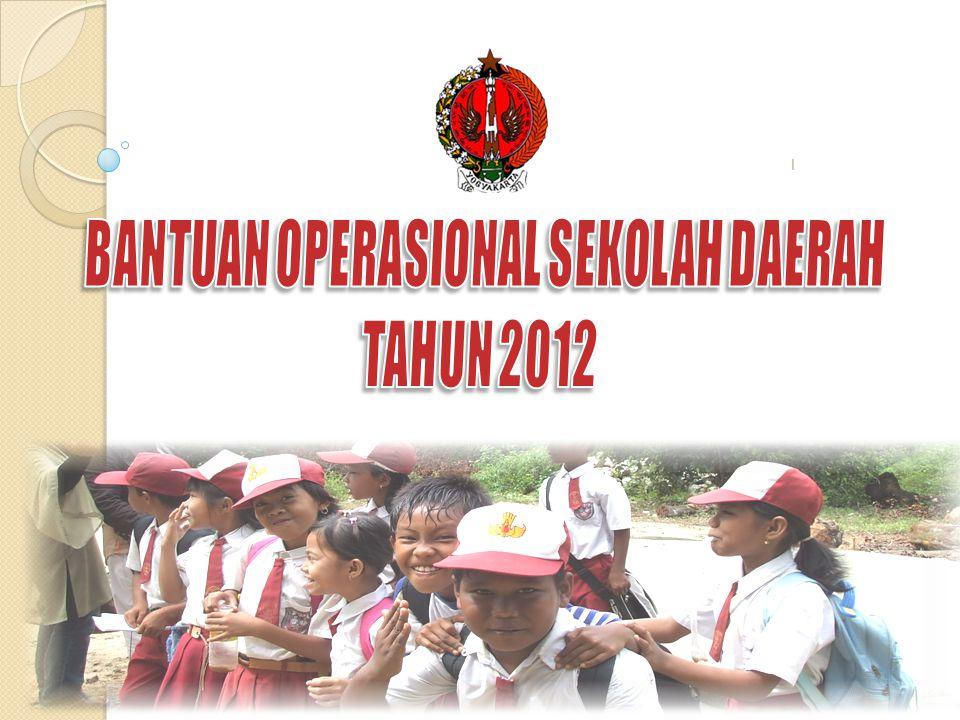 PERGUB 29 TAHUN 2012 TENTANG BANTUAN OPERASIONAL SEKOLAH DAERAH