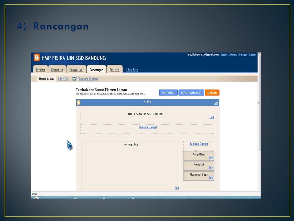 3)Untuk mengentri data kita klik posting atau entri baru
