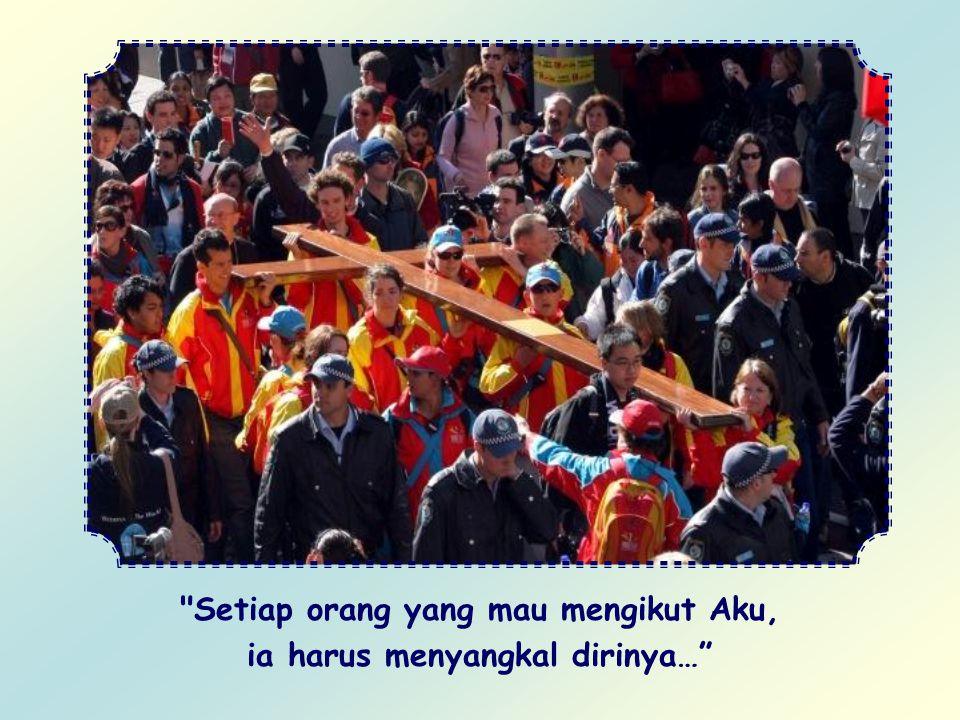 Kemanakah ia harus melangkah? Dengan mengikuti jejak langkah Yesus: yakni Sabda- Nya. Hari ini Yesus kembali bersabda: