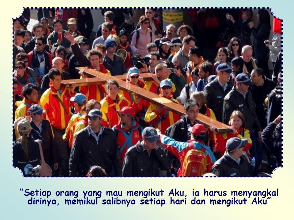 Kita tidak pernhah lagi cemburu terhadap siapapun. Maka kita layak disebut sebagai pengikut Kristus. Dengan demikian kita akan mengalami bahwa salib a