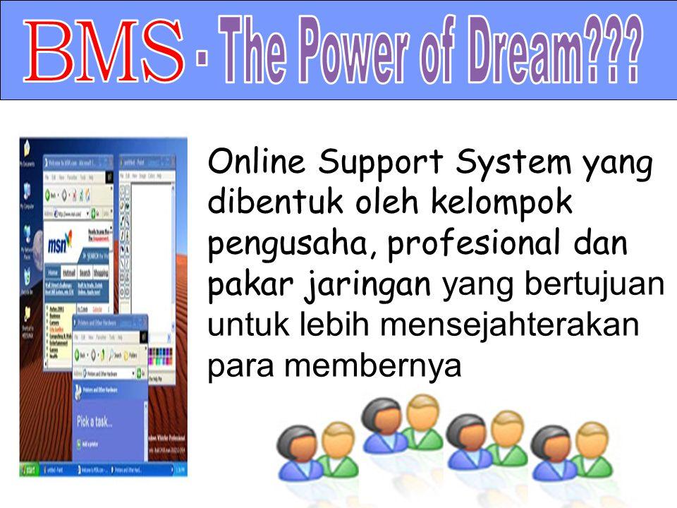 Online Support System yang dibentuk oleh kelompok pengusaha, profesional dan pakar jaringan y ang bertujuan untuk lebih mensejahterakan para membernya