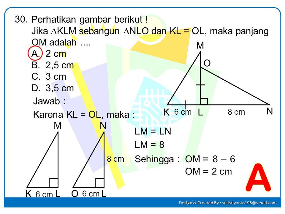 t =....... (1) t =....... (2) = 6b=4aAtau : 3b=2a 6 cm 4 cm t A B C D E F a b 32 t = = = 2,4 cm