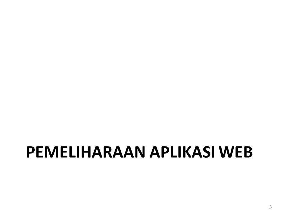 PEMELIHARAAN APLIKASI WEB 3