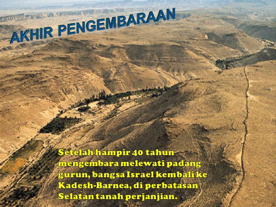 7.Israel mengirim utusan kepada Sihon raja orang Amori (raja Hesybon) dari gunung Pisga, agar membiarkan mereka melewati daerahnya.