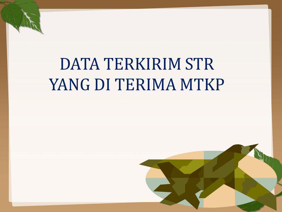 DATA TERKIRIM STR YANG DI TERIMA MTKP
