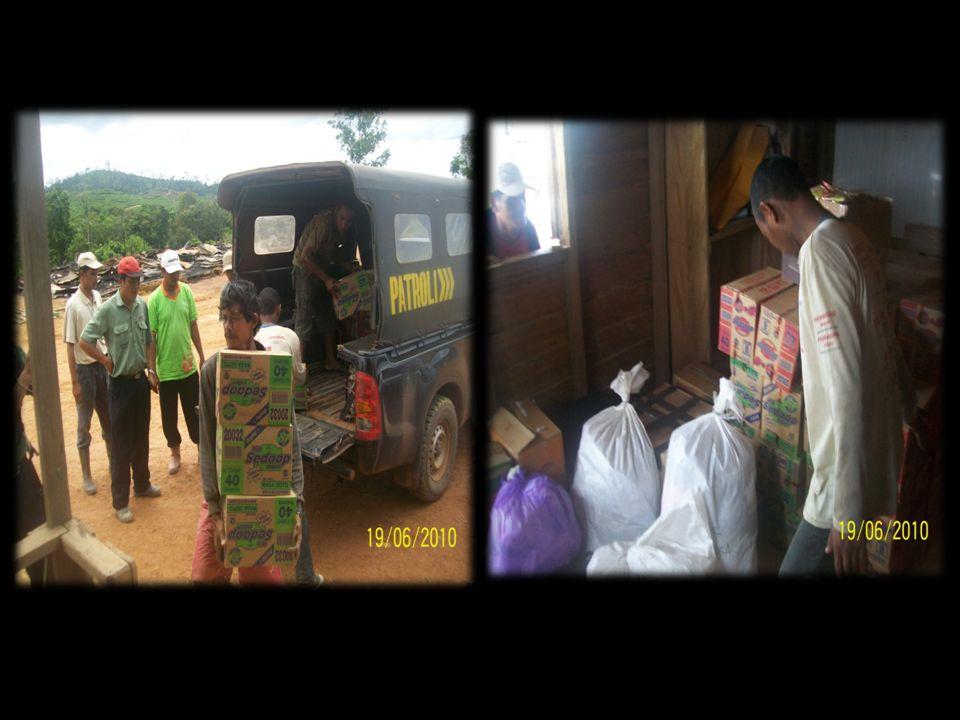 Distribusi bahan bantuan