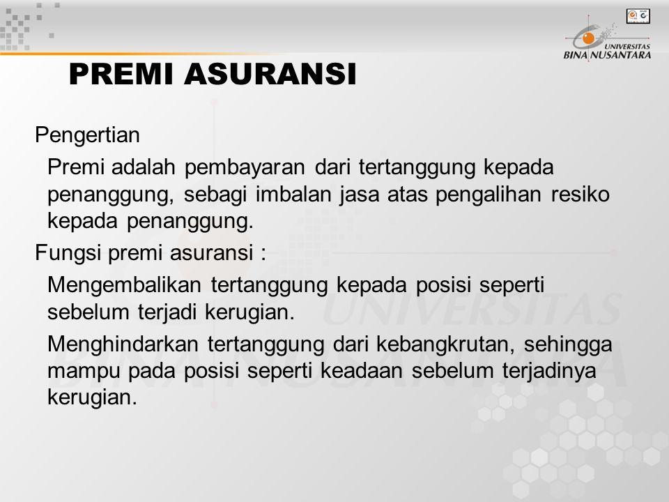 Aktuaria dan Penentuan Tarif Aktuaria/aktuaris adalah bagian/ orang yang menghitung premi pada asuransi.