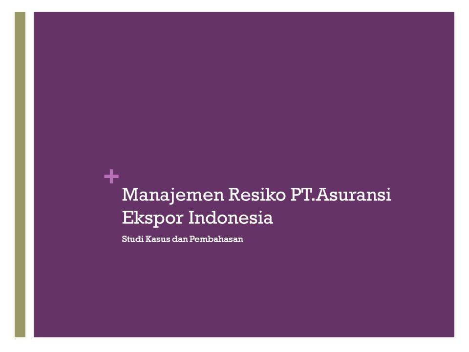 + Manajemen Resiko PT.Asuransi Ekspor Indonesia Studi Kasus dan Pembahasan