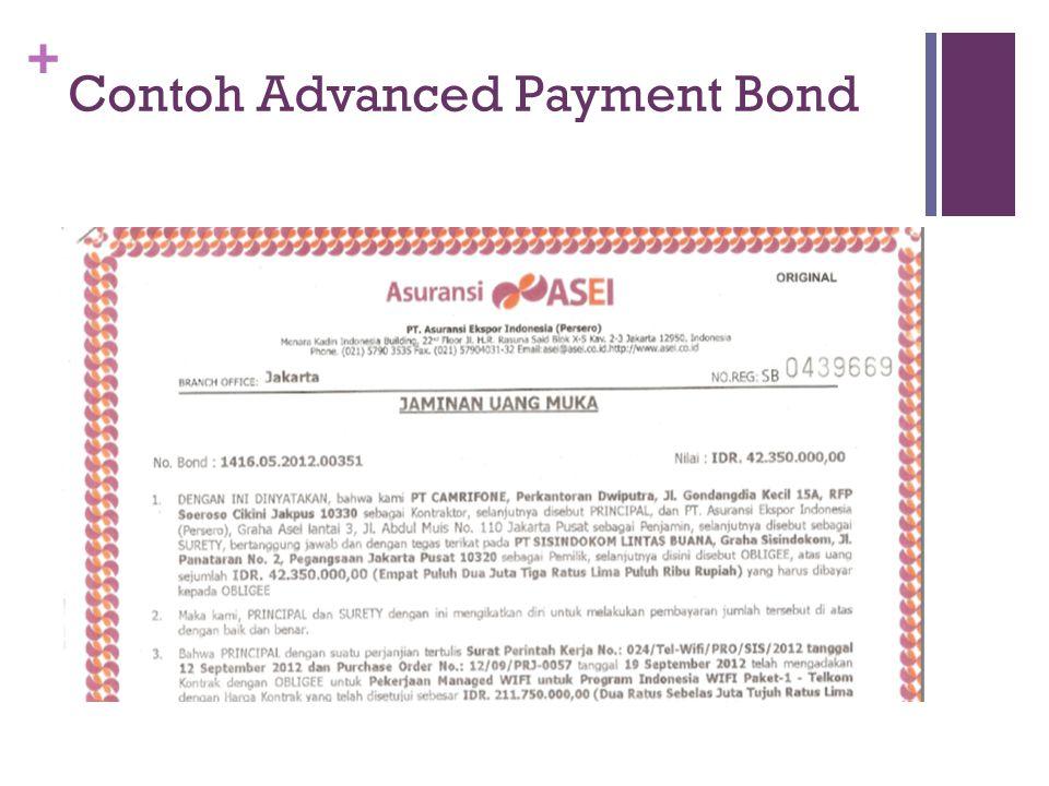 + Contoh Advanced Payment Bond