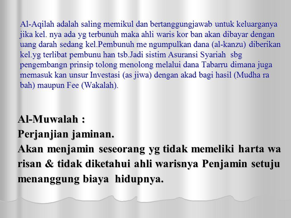 Al-Aqilah adalah saling memikul dan bertanggungjawab untuk keluarganya jika kel.