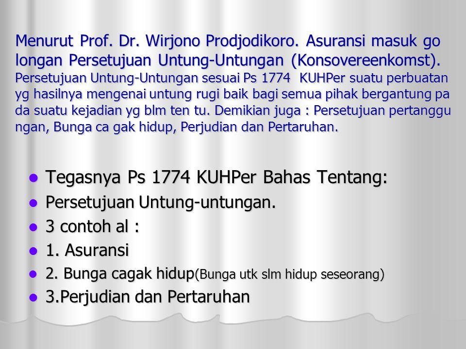 Menurut Prof.Dr. Wirjono Prodjodikoro.