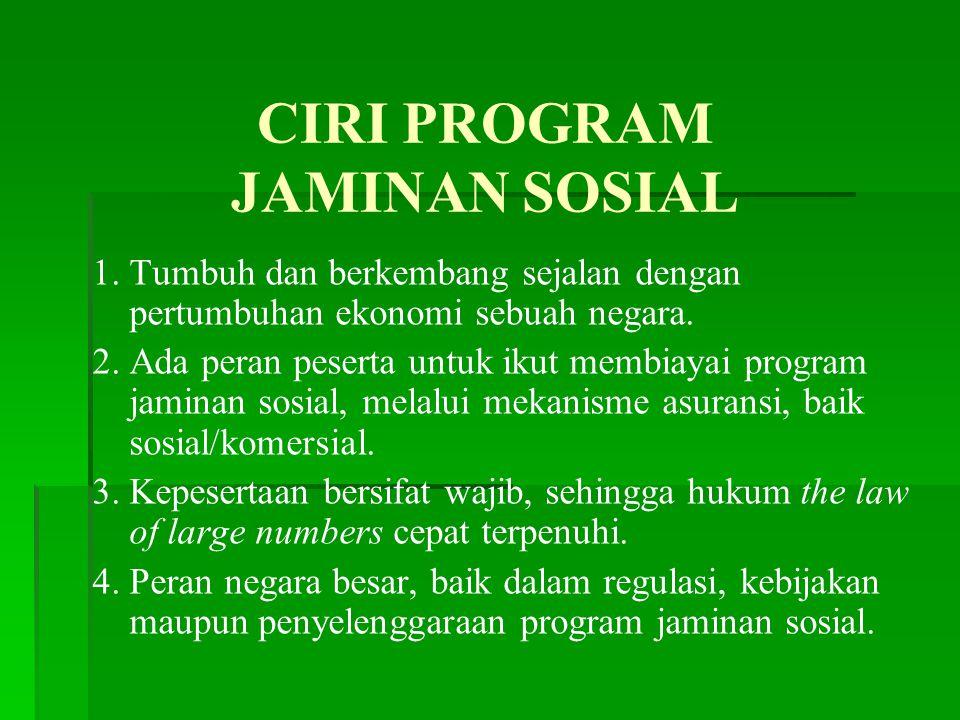 CIRI PROGRAM JAMINAN SOSIAL 1.