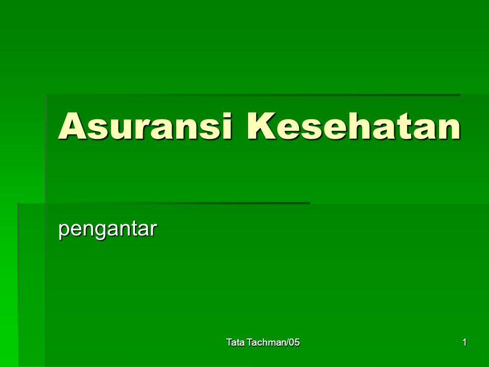 Tata Tachman/051 Asuransi Kesehatan pengantar