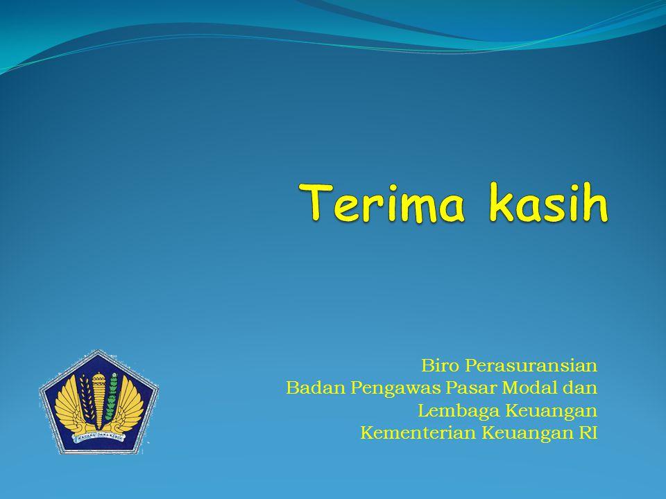 Biro Perasuransian Badan Pengawas Pasar Modal dan Lembaga Keuangan Kementerian Keuangan RI