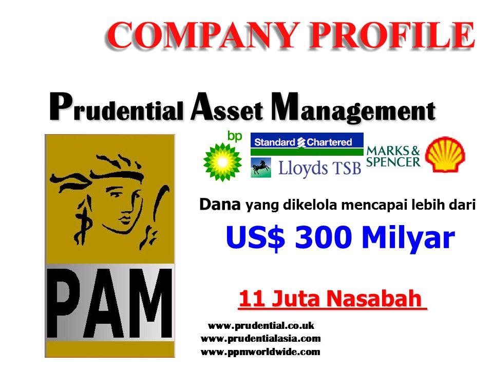 US$ 300 Milyar 11 Juta Nasabah Dana yang dikelola mencapai lebih dari P rudential A sset M anagement www.prudential.co.uk www.prudentialasia.com www.p