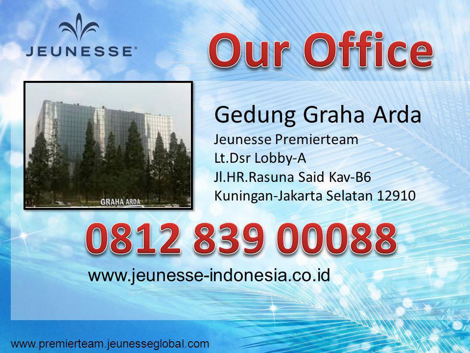 www.premierteam.jeunesseglobal.com www.jeunesse-indonesia.co.id Gedung Graha Arda Jeunesse Premierteam Lt.Dsr Lobby-A Jl.HR.Rasuna Said Kav-B6 Kuninga