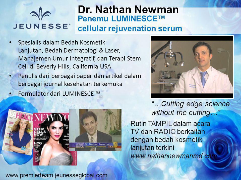 www.premierteam.jeunesseglobal.com • Spesialis dalam Bedah Kosmetik Lanjutan, Bedah Dermatologi & Laser, Manajemen Umur Integratif, dan Terapi Stem Ce