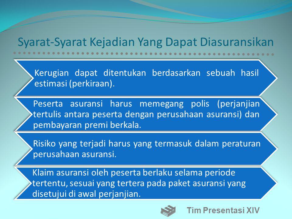 Sistem Asuransi •Menurut Kamarulzman dalam Kamus Ilmiah Serapan, 2008. Asuransi adalah perjanjian antara penanggung (perusahaan asuransi) dengan yang