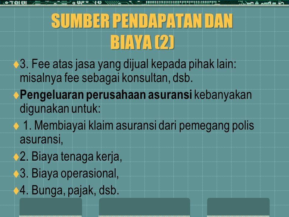 SUMBER PENDAPATAN DAN BIAYA (2)  3.