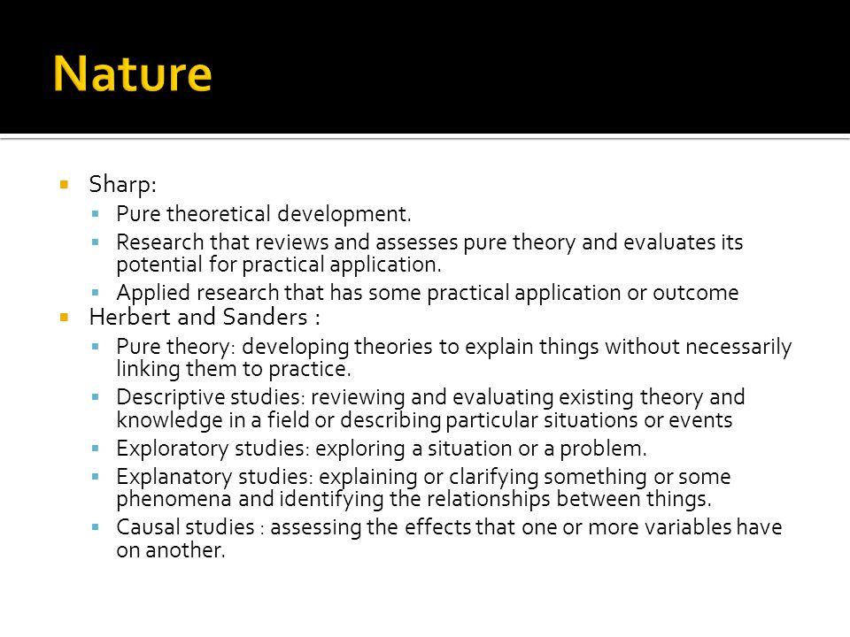  Sharp:  Pure theoretical development.