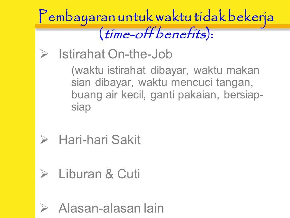 Pembayaran untuk waktu tidak bekerja (time-off benefits)