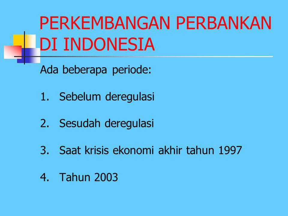 Lanjutan 6.Pasca Krisis Ekonomi th 1997  LK mengalami kemunduran, karena berkurangnya kepercayaan masyarakat Indonesia & luar negeri thd perbankan In