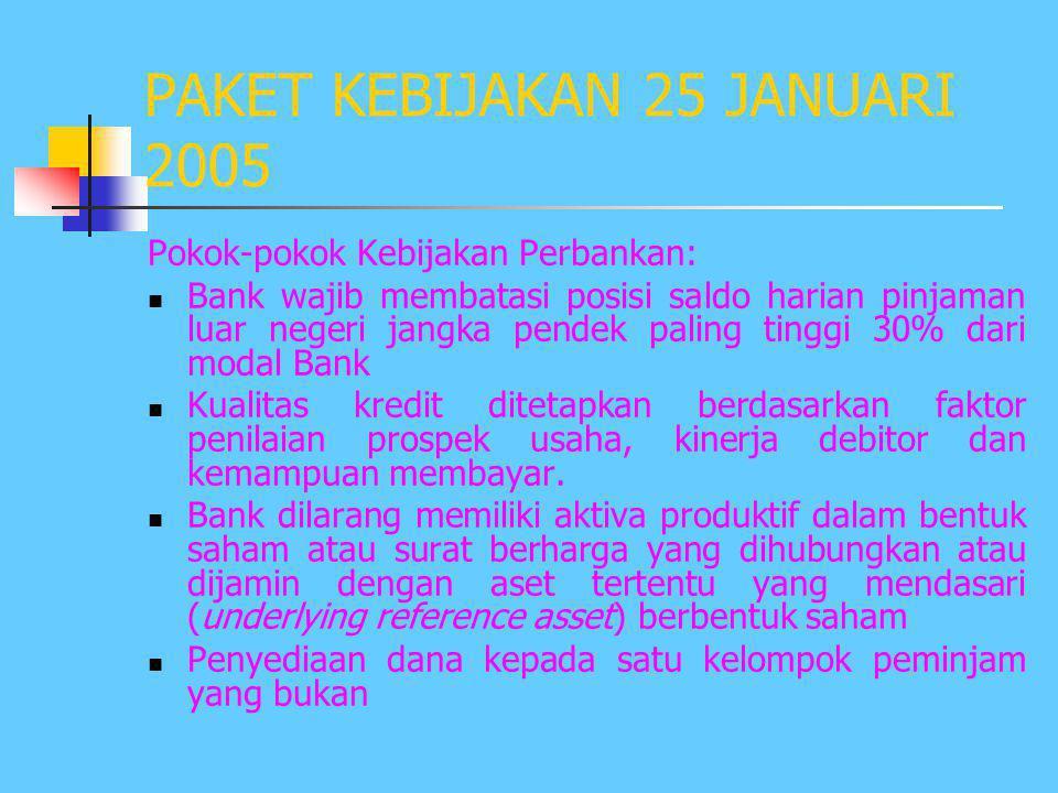 KONDISI SAAT KRISIS AKHIR TAHUN 1997  Tingkat kepercayaan masyarakat & luar negeri terhadap perbankan Indonesia menurun drastis  Sebagian besar Bank
