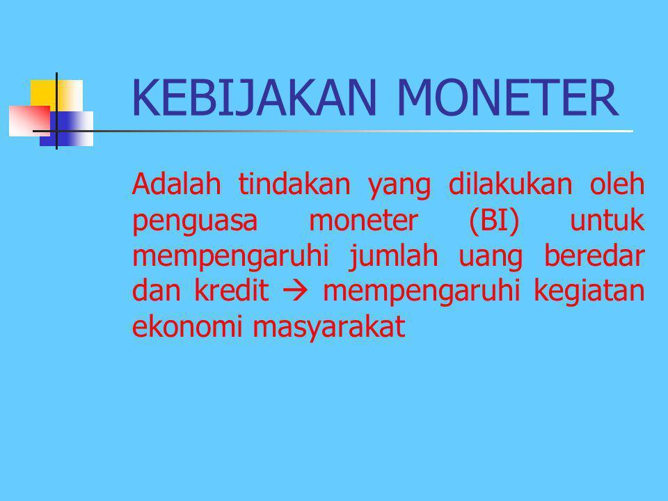 BI SEBAGAI BANK SENTRAL INDONESIA BERTUGAS: 1. Menetapkan dan melaksanakan Kebijakan Moneter 2. Mengatur dan menjaga kelancaran sistem pembayaran 3. M